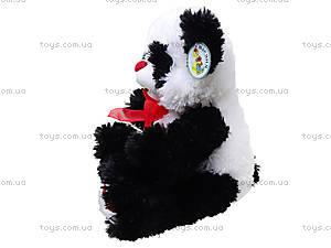 Панда с красным бантом, плюшевая, 620660, купить