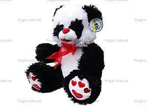 Панда с красным бантом, плюшевая, 620660, фото