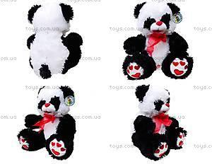 Панда с красным бантом, плюшевая, 620660