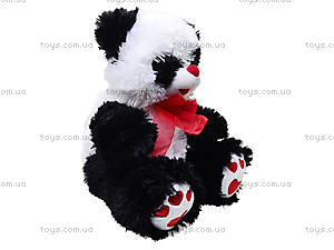 Панда с красным бантом, плюшевая, 620660, отзывы