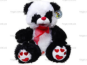 Панда с красным бантом, плюшевая, 620660, игрушки