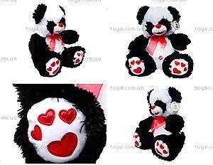 Плюшевая панда с красным бантом, 620660