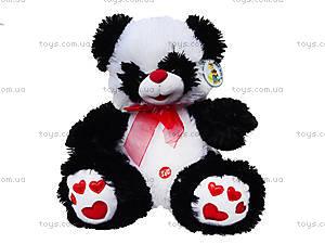 Плюшевая панда с красным бантом, 620660, цена