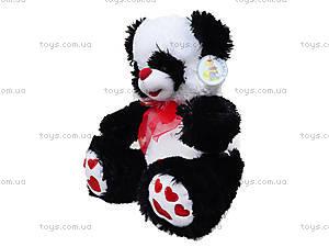 Плюшевая панда с красным бантом, 620660, детские игрушки