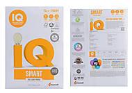 Бумага А4 500 листов  IQ SMART 75 гм.кв. TRIOTEC technology, 20452, тойс