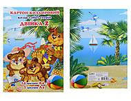 Цветная бумага А4, Ц380008У, купить