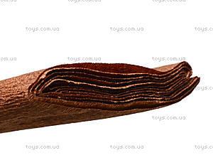 Цветная креповая бумага, коричневая, 10700613, фото