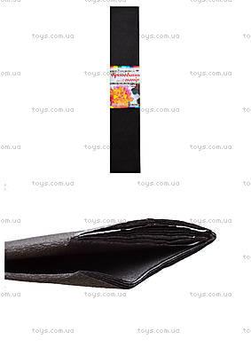 Цветная креповая бумага, темно-серая, 10700614