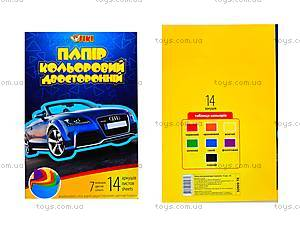 Цветная бумага А4, 14 листов, 50909-TK