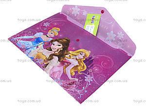Папка-конверт с застежкой «Принцессы», PRAB-US1-PLB-EN15, купить