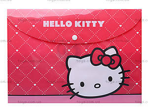 Папка на кнопке, А4 Hello Kitty, HK13-200-1K