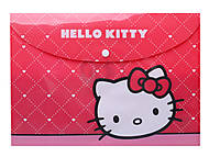 Папка на кнопке, А4 Hello Kitty, HK13-200-1K, фото