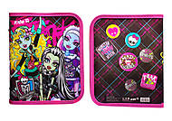 Папка на молнии Kite Monster High, MH13-203K, фото