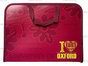 Папка-портфель с тканевыми ручками «Оксфорд», 491023