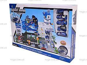 Паркинг игрушечный «Полиция», 9003A, toys.com.ua