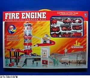 Паркинг «Пожарная часть», с машинками, 9911-7
