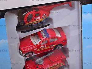 Паркинг «Пожарная полиция» с машинами, 9002A, фото