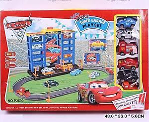 Паркинг с треком и машинками «Тачки», P2599