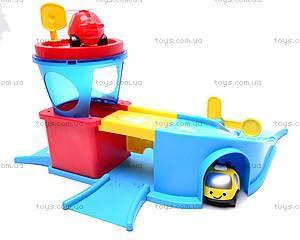 Паркинг с вертолетом и машинками, 858819, детские игрушки