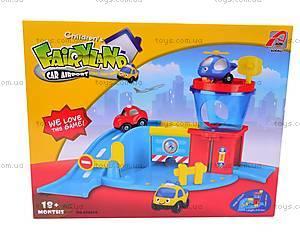 Паркинг с вертолетом и машинками, 858819, магазин игрушек