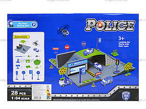 Детский парковочный центр «Полицейский транспорт», P0688, купить