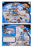 Паркинг «Полиция» с машинками и самолетом, 660-A35, фото