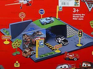 Паркинг «Тачки», с треком и машинками, P0599, фото