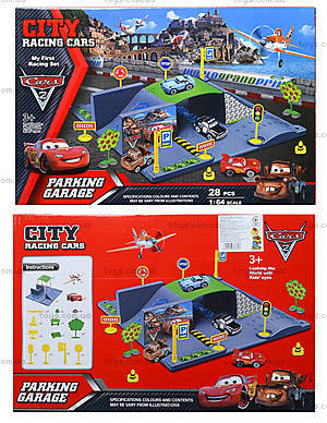 Паркинг «Тачки», с треком и машинками, P0599