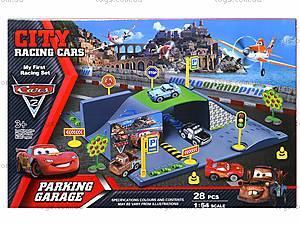 Паркинг «Тачки», с треком и машинками, P0599, игрушки