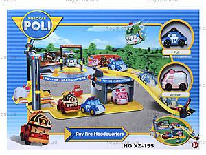 Игрушечная парковка Robocar Poli «Пожарная станция Роя», XZ-155, игрушки
