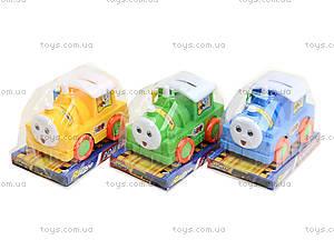Инерционный паровоз «Томми», AH1689-A, детские игрушки