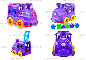 Детский паровозик-сортер «Кукушка», 218