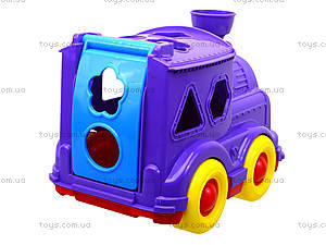 Детский паровозик-сортер «Кукушка», 218, магазин игрушек