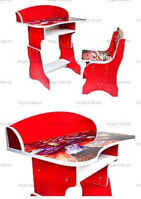 Школьная парта со стулом «Тачки», П018