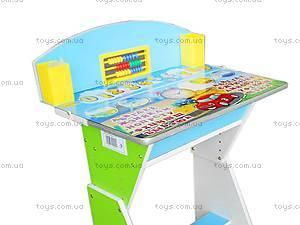 Парта и стул для детей «Веселой учебы», E2017 G, купить