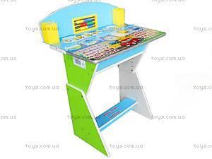 Парта и стул для детей «Веселой учебы», E2017 G, фото