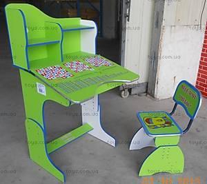 Парта с полочками и стулом, E2071G