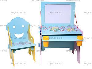 Парта со стулом и доской «Алфавит», W017