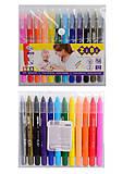 Пастель масляная, 12 цветов JUMBO с акварельным эффектом (10 стандарт+2 металлик), ZB.2497, игрушки