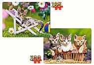 Пазл 2 в 1 «Котята», B-021116, фото