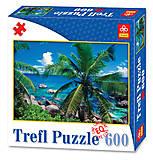 Пазлы Trefl «Пальмы у моря», 89004, отзывы