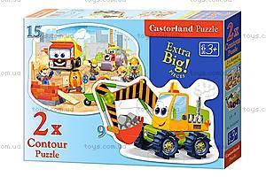 Пазл Castorland 2хContour «Строительные работы», 065, купить