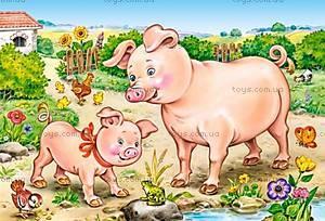 Пазл Castorland 4х1 «Животные и их дети», В-04416, купить