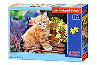 Пазл Castorland на 180 деталей «Рыжий котенок», В-018178, купить