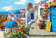 Пазл Castorland на 2000 деталей «Весна в Санторини», С-200603