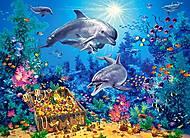 Пазл Castorland на 300 деталей «Семья дельфинов», В-030149, купить