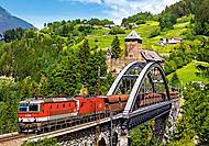 Пазл Castorland на 500 деталей «Поезд на мосту», В-52462