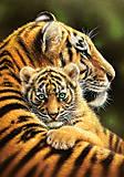 Пазл Castorland на 500 деталей «Тигры», В-52448, отзывы