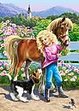 Пазл Castorland на 60 деталей «Прогулка с пони и собакой», В-06755, фото