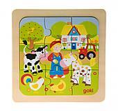 Пазл деревянный goki «Ферма», 57499-1, отзывы